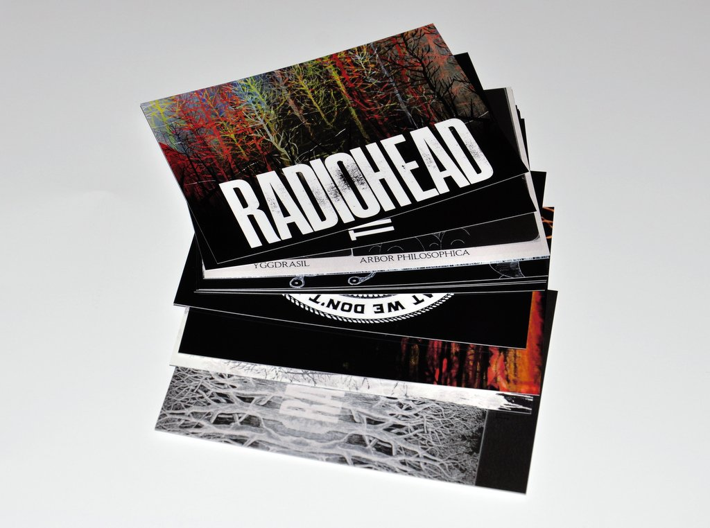 Radiohead The King of Limbs Postcards